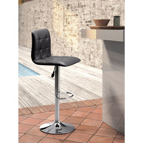 Oxygen Leatherette and Chromed Steel Bar Chair