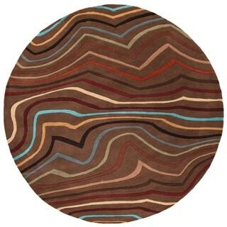 "Hand-Tufted Topsham Wool Rug (9'9"" Round)"