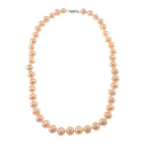 Orange Freshwater Pearl Classic Necklace Jewelry for Women