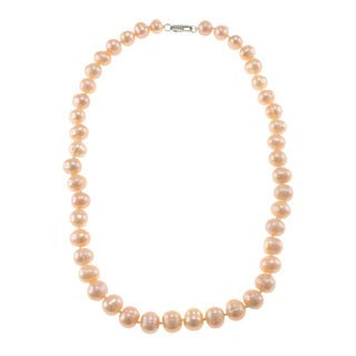 Orange Freshwater Pearl Necklace (9-10 mm)