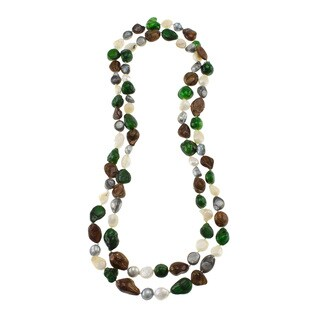 Multi-color Freshwater Pearl Endless Necklace (10-11 mm)