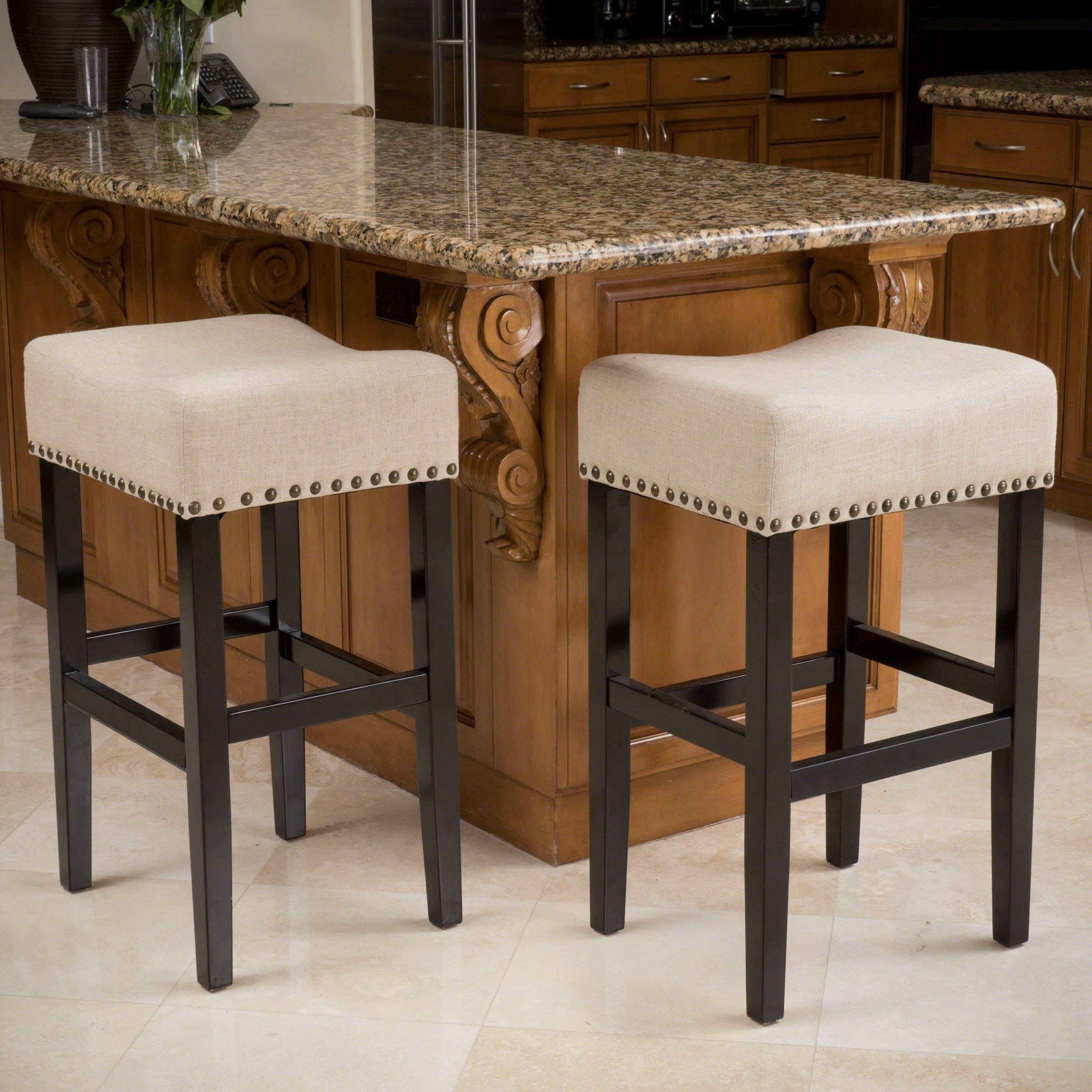 Laramie 30-inch Fabric Barstool (Set of 2) by Christopher...