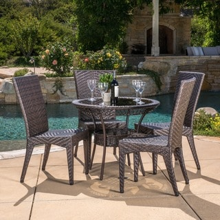 Josh Outdoor 5-piece Wicker Dining Set by Christopher Knight Home