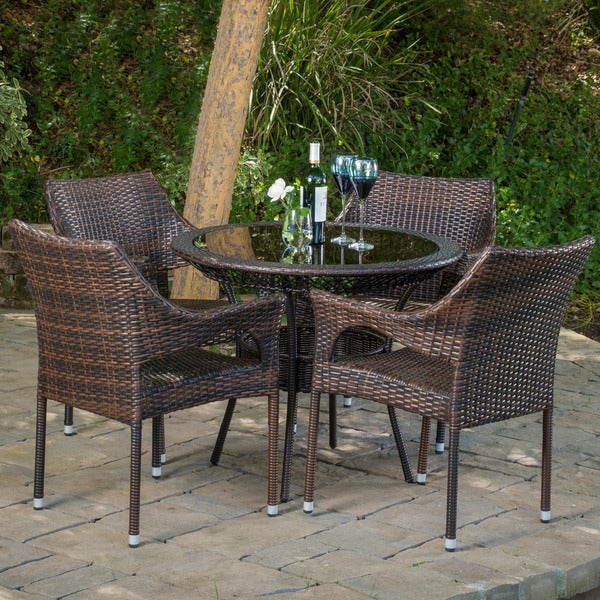 Mirage Outdoor 5 Piece Wicker Dining Set By Christopher