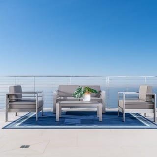Cape Coral 4-piece Outdoor Chat Set with Coffee Table by Christopher Knight Home
