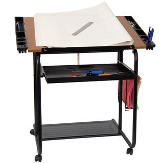 Flash Furniture 30 x 24 Rolling Drafting and Hobby Craft Table