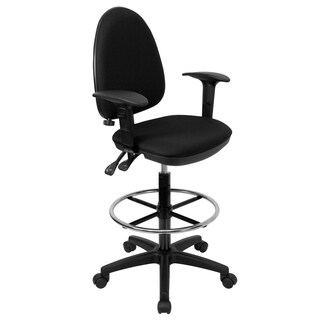 Black Adjustable Drafting Stool