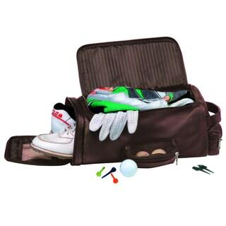 Royce Leather Full Grain Nappa Cowhide Golf Shoe and Accessory Duffel Bag
