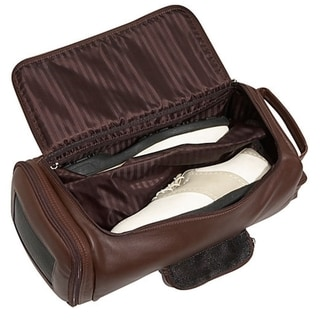 Royce Leather Full Grain Nappa Cowhide Golf Shoe and Accessory Duffel Bag