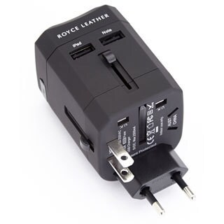 Royce Leather International Travel Adapter Plug