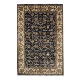 Herat Oriental Indo Hand-knotted Mahal Wool Rug (5'10 x 9')