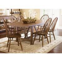 Havenside Home Franklintown Weathered Oak Trestle Table
