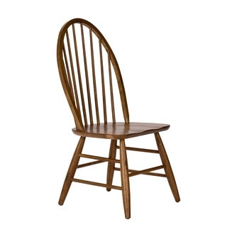 Havenside Home Franklintown Weathered Oak Windsor Back Dining Chair