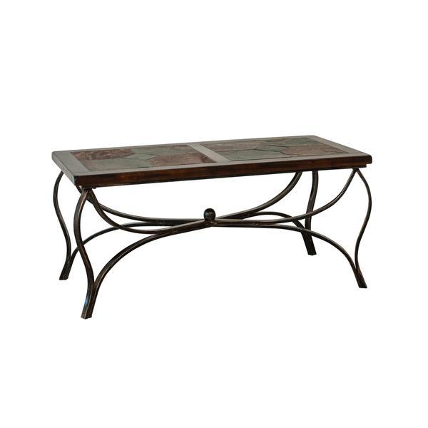 Sunny Designs Santa Fe Birch Wood Coffee Table with Metal Base