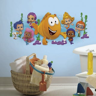 Roommates Bubble Guppies Character Burst Peel and Stick Giant Wall Decals