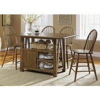 Shop Cabin Fever Bistro Brown Finish Center Island Table - Free ...