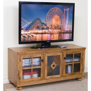Sunny Designs Sedona Rustic Oak TV Console/ Slate Panel