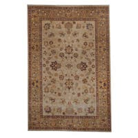 Herat Oriental Afghan Hand-knotted Oushak Wool Rug - 6'1 x 9'3