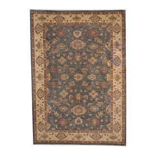 Herat Oriental Afghan Hand-knotted Oushak Wool Rug (6'2 x 8'9)