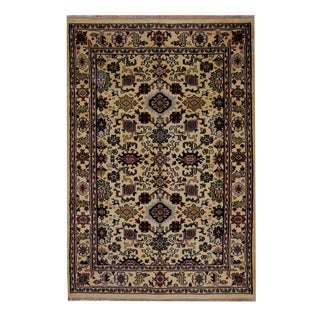 Herat Oriental Indo Hand-knotted Oushak Wool Rug (6' x 8'9)