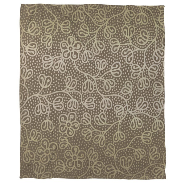 Deer Elegance Filigree Coral Fleece Throw
