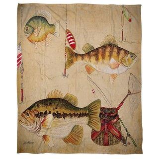 Fish and Lures Coral Fleece Throw