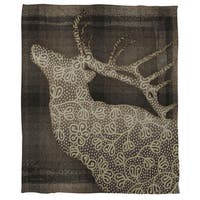 Deer Elegance Coral Fleece Throw