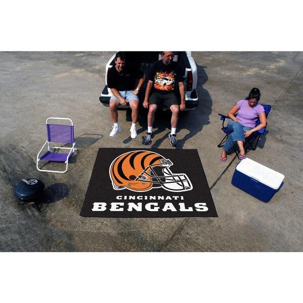 Fanmats Machine-Made Cincinnati Bengals Black Nylon Tailgater Mat (5' x 6')