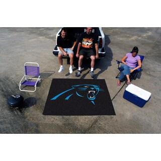 Fanmats Machine-Made Carolina Panthers Black Nylon Tailgater Mat (5' x 6')