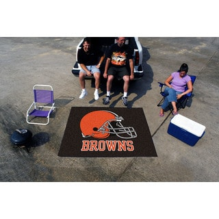 Fanmats Machine-Made Cleveland Browns Brown Nylon Tailgater Mat (5' x 6')