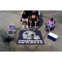 Fanmats Machine-Made Dallas Cowboys Blue Nylon Tailgater Mat (5' x 6')