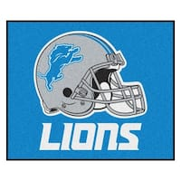 Fanmats Machine-Made Detroit Lions Black Nylon Tailgater Mat (5' x 6')