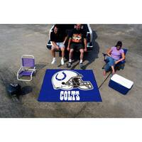 Fanmats Machine-Made Indianapolis Colts Blue Nylon Tailgater Mat (5' x 6')