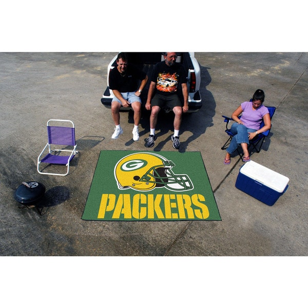 Fanmats Machine-Made Green Bay Packers Green Nylon Tailgater Mat (5' x 6')