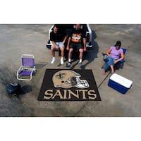 Fanmats Machine-Made New Orleans Saints Black Nylon Tailgater Mat (5' x 6')