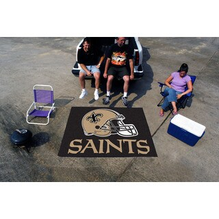 Fanmats Machine-Made New Orleans Saints Black Nylon Tailgater Mat (5' x 6')