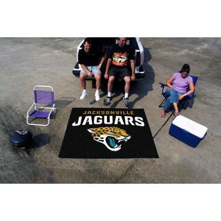 Fanmats Machine-Made Jacksonville Jaguars Black Nylon Tailgater Mat (5' x 6')
