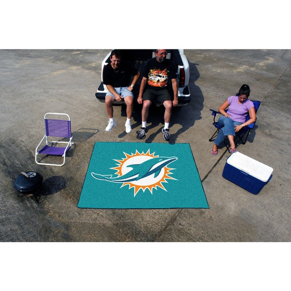 Fanmats Machine-Made Miami Dolphins Turquoise Nylon Tailgater Mat (5' x 6')