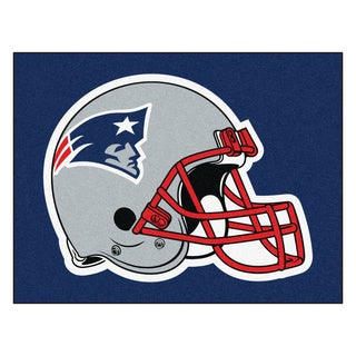 Fanmats Machine-Made New England Patriots Blue Nylon Tailgater Mat (5' x 6')