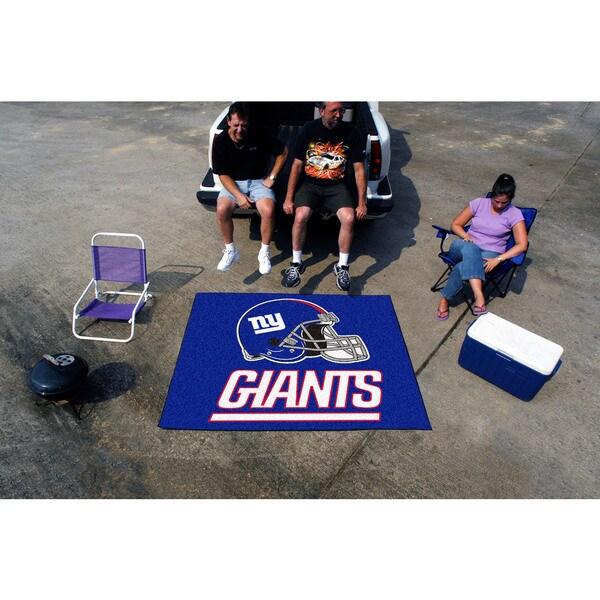 Fanmats Machine-Made New York Giants Blue Nylon Tailgater Mat (5' x 6')