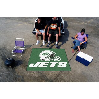 Fanmats Machine-Made New York Jets Green Nylon Tailgater Mat (5' x 6')