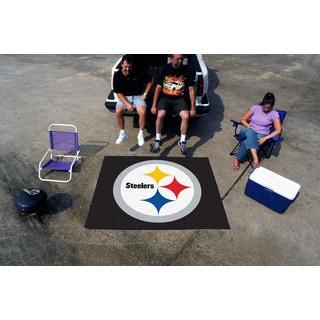Fanmats Machine-Made Pittsburgh Steelers Black Nylon Tailgater Mat (5' x 6')