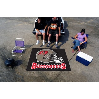 Fanmats Machine-Made Tampa Bay Buccaneers Black Nylon Tailgater Mat (5' x 6')