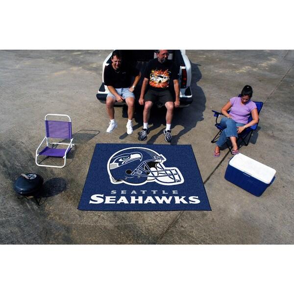 Fanmats Machine-Made Seattle Seahawks Blue Nylon Tailgater Mat (5' x 6')