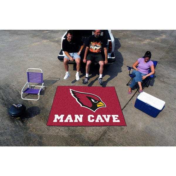Fanmats Machine-Made Arizona Cardinals Red Nylon Man Cave Tailgater Mat (5' x 6')