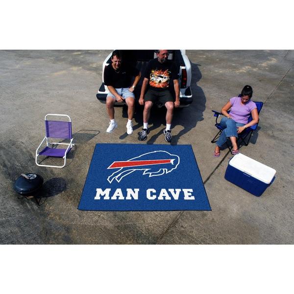 Fanmats Machine-Made Buffalo Bills Blue Nylon Man Cave Tailgater Mat (5' x 6')