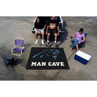 Fanmats Machine-Made Carolina Panthers Black Nylon Man Cave Tailgater Mat (5' x 6')