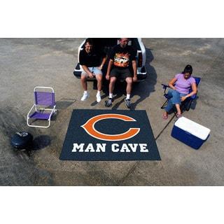 Fanmats Machine-Made Chicago Bears Blue Nylon Man Cave Tailgater Mat (5' x 6')