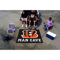 Fanmats Machine-Made Cincinnati Bengals Black Nylon Man Cave Tailgater Mat (5' x 6')