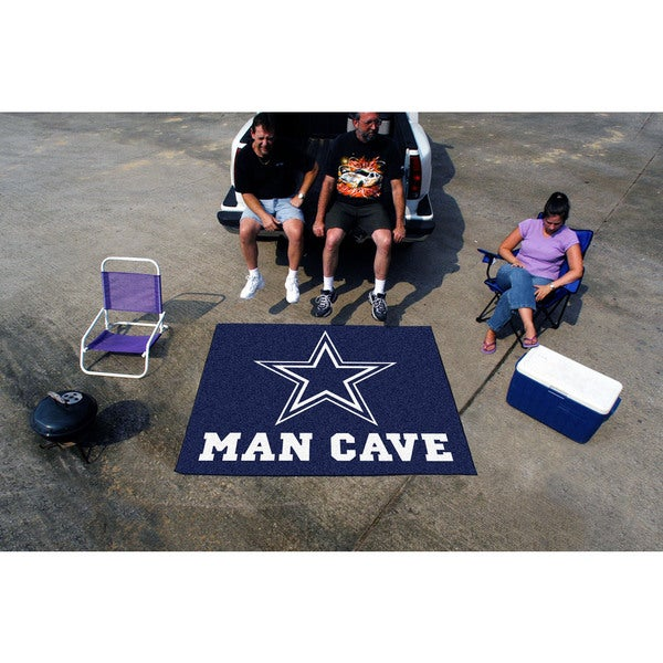 Fanmats Machine-Made Dallas Cowboys Blue Nylon Man Cave Tailgater Mat (5' x 6')
